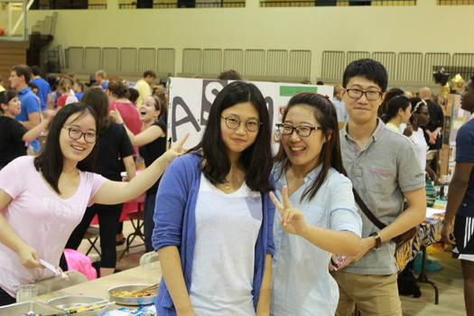 Students promoting their organization at an event