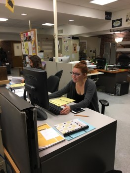 Student workers at the help desk