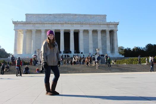 Samantha Langley '16 in Washington, D.C., during her congressional internship.