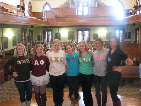 Panhellenic Executive Council on Bid Day 2013