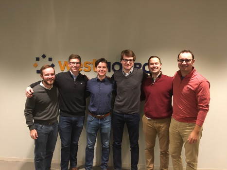 Benton Turner '19 at West Monroe Partners with other Management Fellow alumni.