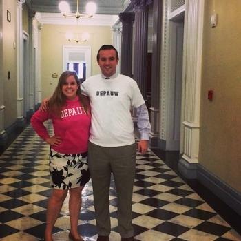 Evans with fellow White House staffer David Deitz '11