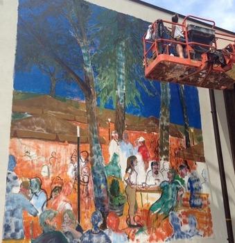 Mural in progress North Carolina August 2014