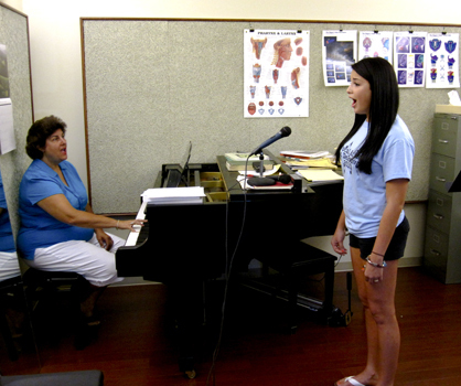 Student in a Voice Lesson