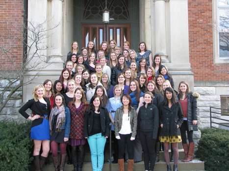 Members of the Panhellenic Community celebrate NPC's International Badge Day 2012 (3/5/2012)