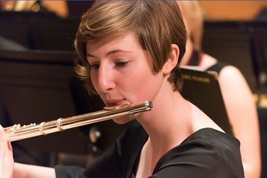 Eleanor performing with the University Orchestra.