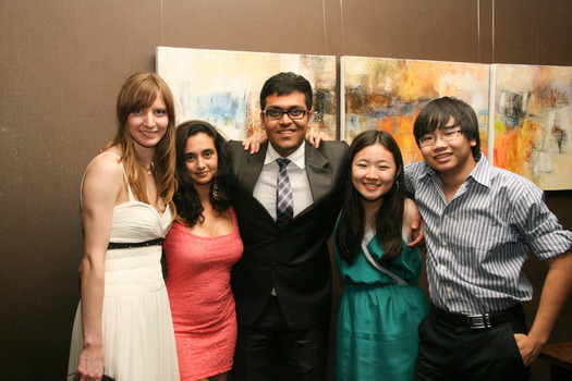 International Student Association 2011-2012 executive board members Rita Nikonova, Shreeya Neupane, Pranay Jhunjhunwalla, Mami Oyamada and Hoang Nguyen