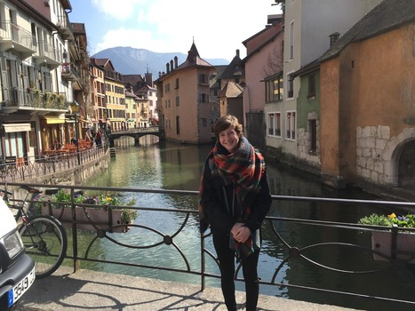 Eleanor in Annecy, France, during her semester abroad.