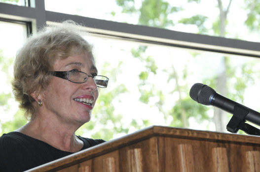 Janet Prindle leading a discussion during Alumni Reunion Weekend