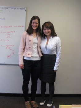 Katie Carrico with Jingqi Liu at Compendium