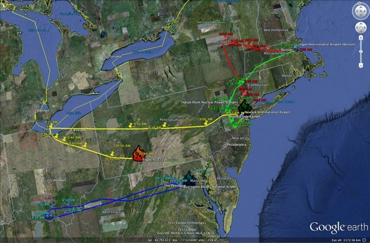 Mapping of the 9/11 Attacks by Katherine Spataro