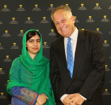 Ken Owen with Malala Yousafzai; Sept. 4, 2017