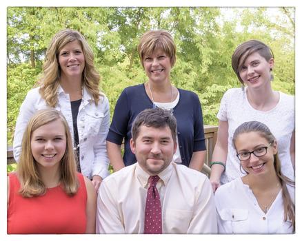 Prindle Staff (clockwise Tonya Welker, Linda Clute, Christiane Wisehart, Sandra Bertin, Andrew Cullison and Jacquelyn Stephens)