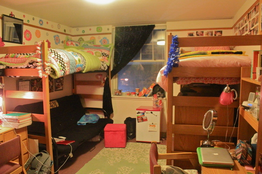 A room with lofted beds in Humbert.