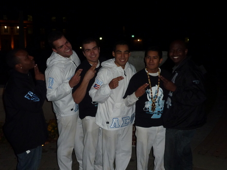 Lambda Sigma Upsilon Men at campus events