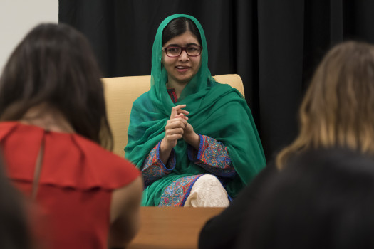 Reserved seating is available to Society members at on-campus events such as the Timothy and Sharon Ubben Lecture, which featured Nobel laureate Malala Yousafzai in September 2017.