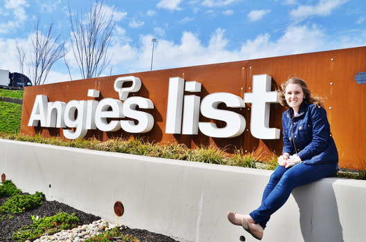 Maria Rummel '17 interned at Angie's List for her semester long internship.