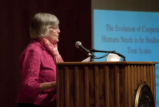 Martha Rainbolt speaking at the 2010 Undergraduate Ethics Symposium