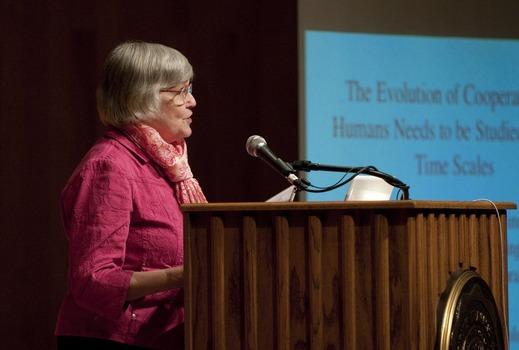 Martha Rainbolt speaking at the 2010 Undergraduate Ethics Symposium