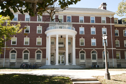 The outside of Mason Hall