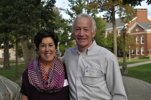 Carson and Janet Crawford Evans, parents of Sarah '02, Joseph '10 and Jackson '17