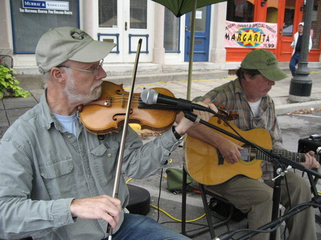 Musicians at the farmer's market