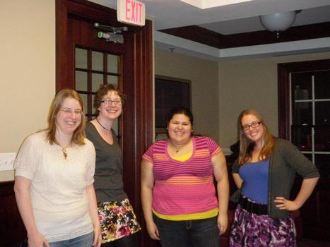 New Members 2011-2012 (L to R): Vanessa Maxwell, Kate Harris, Julissa Palomo, and Laura Crawford