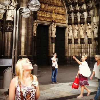 Noelle at the Cologne Cathedral in Cologne, Germany