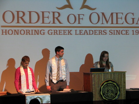 Order of Omega Executive Council; Alex Chamberlain ('13), Caroll Bible ('13), Tyler Perfitt ('13)