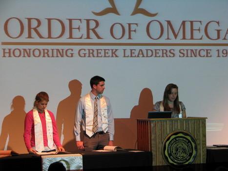 Order of Omega Executive Council; Alex Chamberlain ('13), Caroll Bible ('13), Tyler Perfitt ('13)