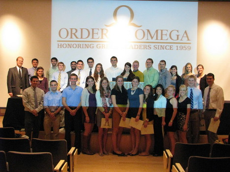 Order of Omega Initiation, Fall 2012