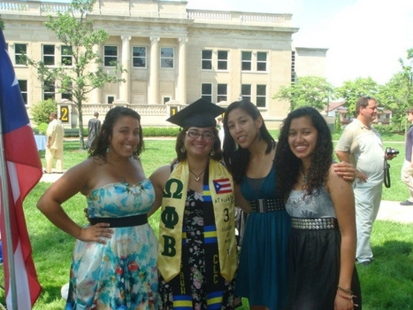 The Women of the Psi Chapter Omega Phi Beta Sorority, Inc. at DePauw's Commencement ceremony