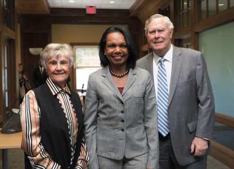 Sharon Ubben '58, Condoleezza Rice, Timothy Ubben '58