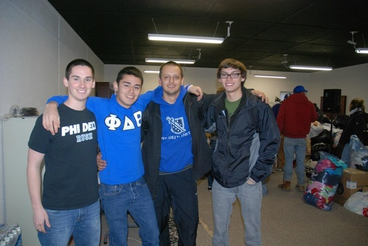 Members of Phi Delta Theta help with Indiana Tornado Relief (March 2012)