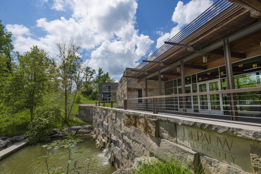 Exterior shot of The Janet Prindle Institute for Ethics on a lovely summer day.