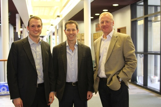 """Our students attended an """"Industry Insight"""" panel focusing on Real Estate.  The panel included Scott Shelbourne '03, John Kite '87 and Chuck Hall."""