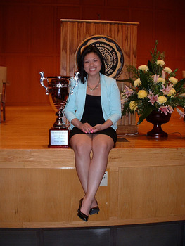 Congratulations to CFT major Sandy Tran for winning the Walker Cup which is given annually to the senior who has done the most for DePauw!