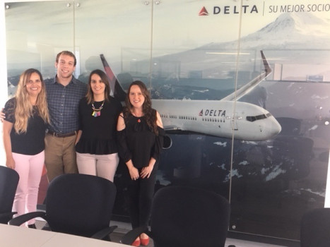 Zach Williams '19 serving on his semester long internship with Delta Air Lines.