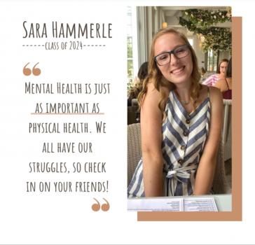 Sara Hammerle, 1 of 5 Mental Health Peer Educators 2020-21