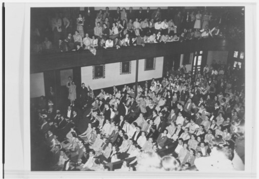 Senior Chapel held in Meharry Hall in 1941