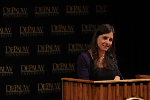 Rebecca Skloot during her Ubben Lecture.