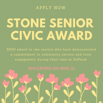 Jane & David Stone Senior Civic Award. Apply with the link below.