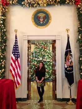 Shelby Bremer at the White House during the Christmas Season