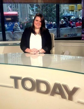 Marissa Jansen at The Today Show in New York.