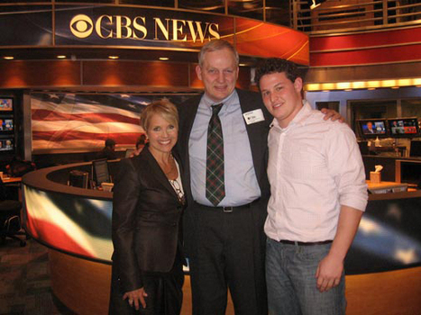 Ben Solomon at CBS News in New York (with Katie Couric and Dr. David Bohmer)