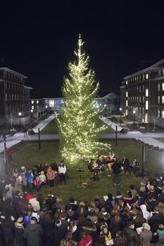 DePauw's Annual Christmas Tree Lighting celebrates the start of Advent