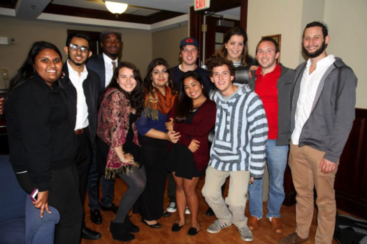 Students from Hillel join the Muslim Student Association at their Eid al-adha event.