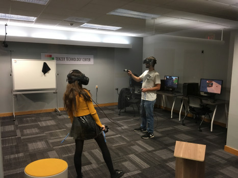 ITAP students have the opportunity to build and test VR environments.