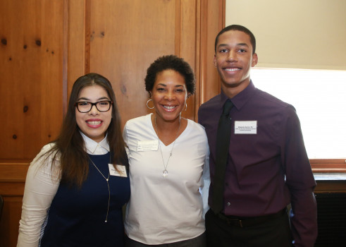 Members of the Washington C. DePauw Society are invited to an annual breakfast where they get to meet the student who receives the scholarship that bears their name.
