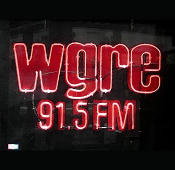 WGRE 91.5 FM neon sign